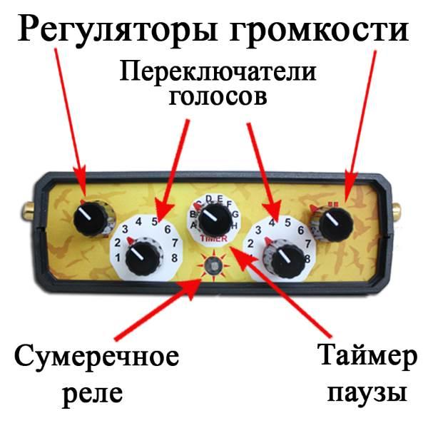Верхняя панель управления отпугивателя птиц Коршун 16